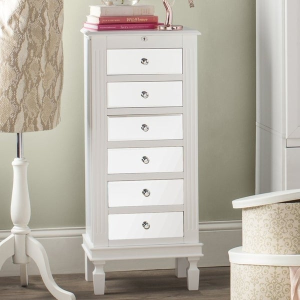 Shop Hives & Honey Amy White Jewelry Armoire Jewelry Stand ...