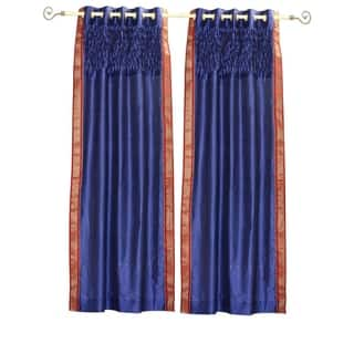 Blue Grommet Top Sheer Sari Curtain Panel with beaded hand design -Piece|https://ak1.ostkcdn.com/images/products/18687478/P24779604.jpg?impolicy=medium