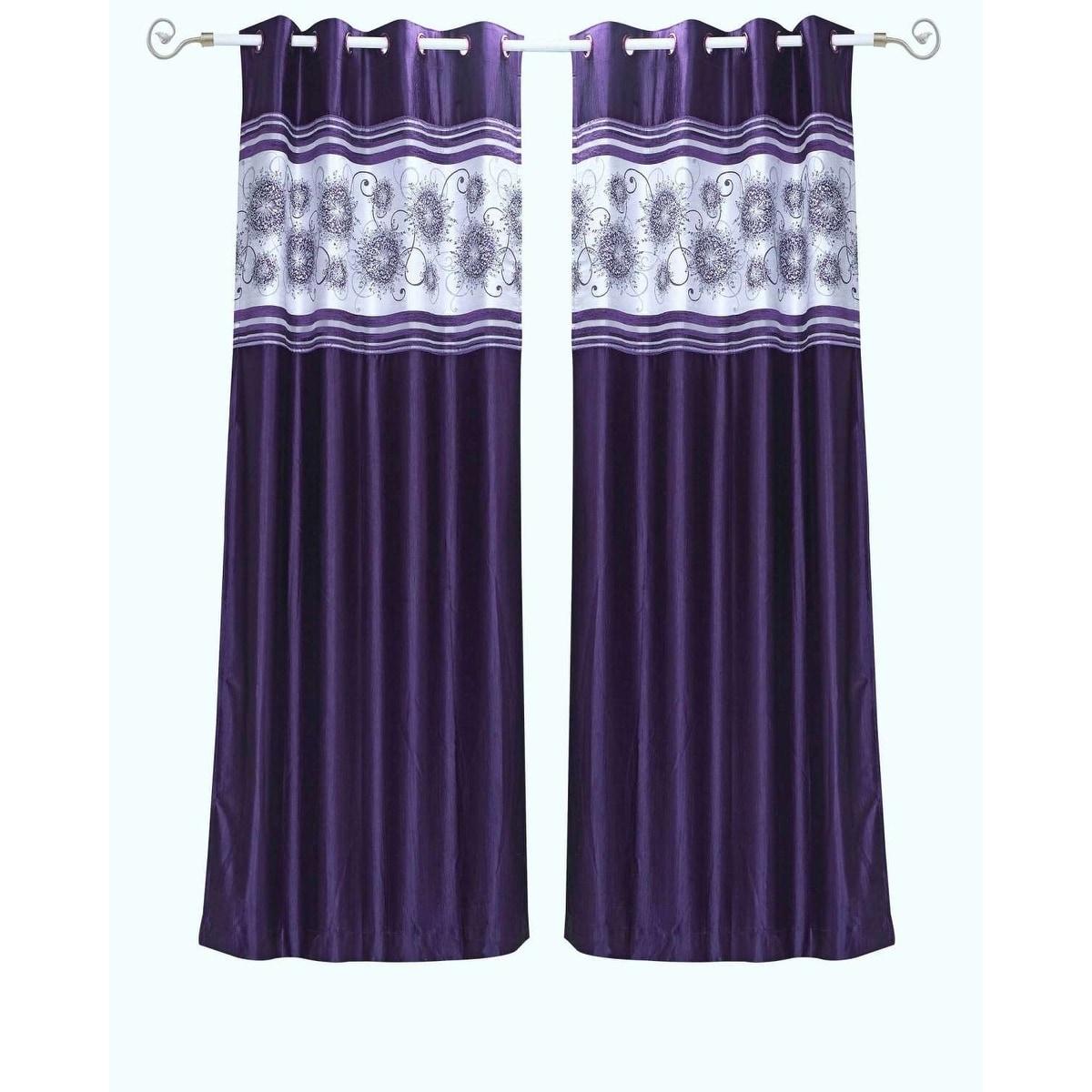 purple grommet valance