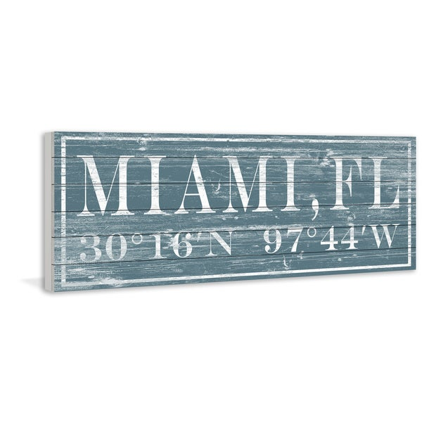 Marmont Hill - Handmade Miami, FL Painting Print on White Wood