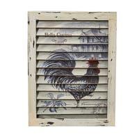 Rooster Window Shutter Wall Decor