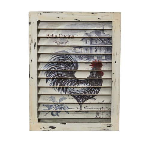 Rooster Window Shutter Wall Decor
