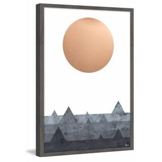 'Valleys' Framed Painting Print