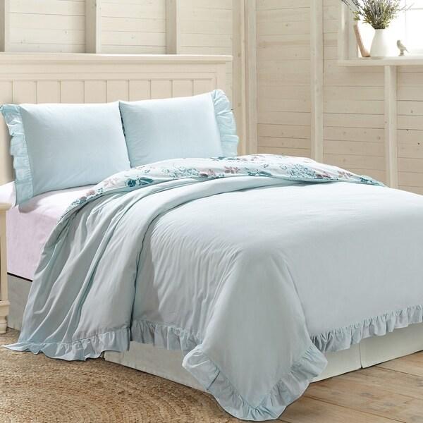 Amrapur Overseas Cassey 3-Piece Ruffled 100-Percent Cotton Duvet Set