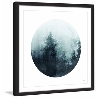 'Shadowy Woods' Framed Painting Print