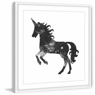 Marmont Hill - Handmade Space Unicorn Framed Print