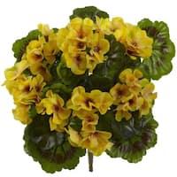 Geranium Artificial Bush UV Resistant (Indoor/Outdoor) (Set of 4)