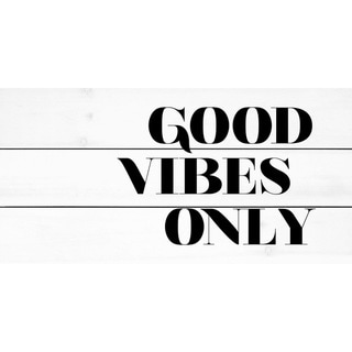 Marmont Hill - Handmade Good Vibes Only III Painting Print on White Wood