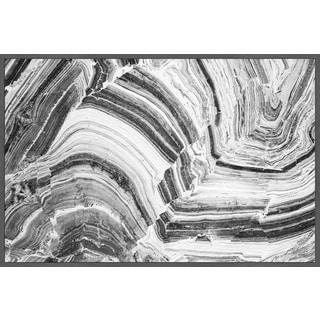 Marmont Hill - Handmade Radial Gray Floater Framed Print on Canvas