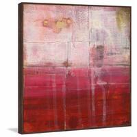 'Crimson' Floater Framed Painting Print on Canvas