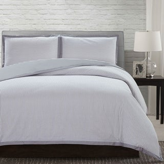 Amrapur Overseas Seersucker 3-Piece 100-Percent Cotton Duvet Set