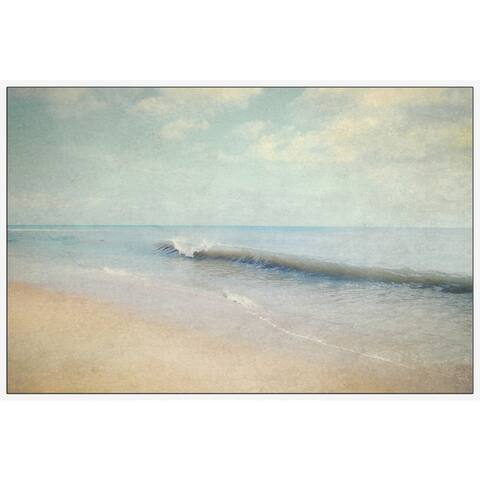 Marmont Hill - Handmade Oceanum Undam Floater Framed Print on Canvas