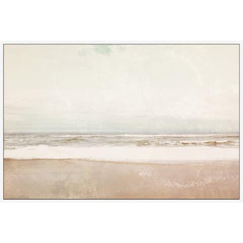 Marmont Hill - Handmade Serenity Beach Floater Framed Print on Canvas