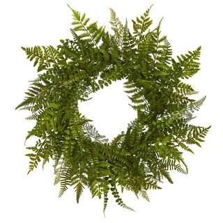 """24"""" Mixed Fern Wreath"""