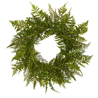 "24"" Mixed Fern Wreath"