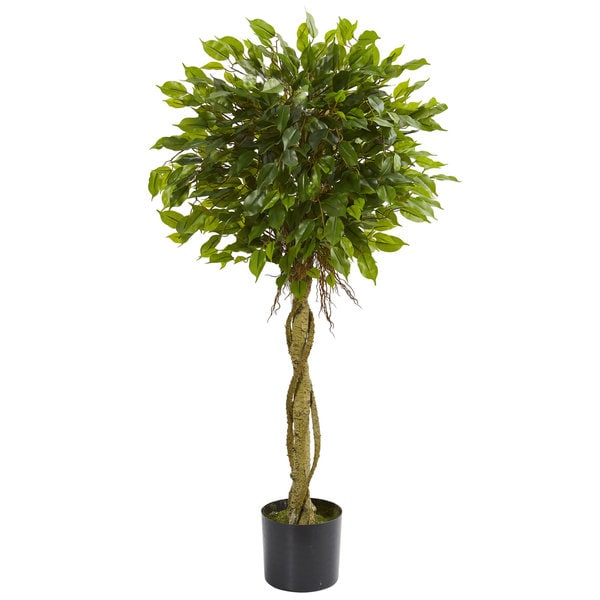 4 Ficus Artificial Topiary Tree Uv Resistant Indoor Outdoor On Free Shipping Today 18688460