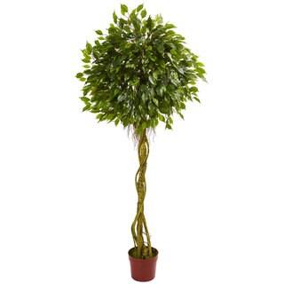 6' Ficus Artificial Topiary Tree UV Resistant (Indoor/Outdoor)