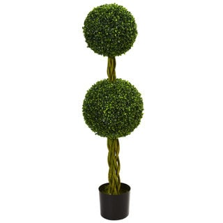 Link to 4' Boxwood Double Ball Artificial Topiary Tree with Woven Trunk UV Resistant (Indoor/Outdoor) Similar Items in Decorative Accessories