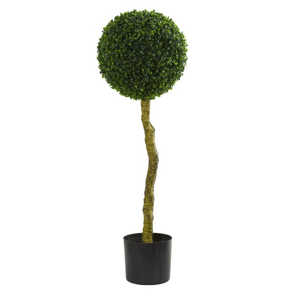 3.5' Boxwood Artificial Topiary Tree UV Resistant (Indoor/Outdoor). Opens flyout.