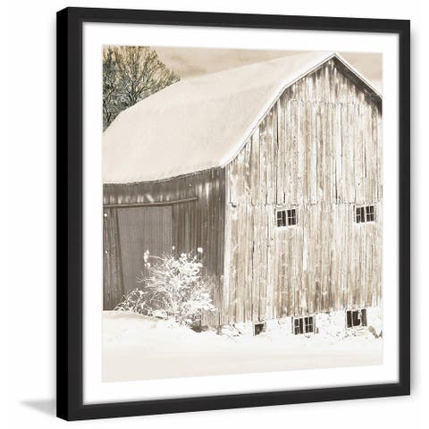 Marmont Hill - Handmade Winter Morning Framed Print