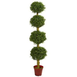 6' Four Tier Boxwood Artificial Topiary Tree UV Resistant (Indoor/Outdoor)
