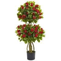 Shop 39 Inch Hibiscus Topiary Free Shipping Today