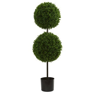 3.5' Boxwood Double Ball Artificial Topiary Tree UV Resistant (Indoor/Outdoor)