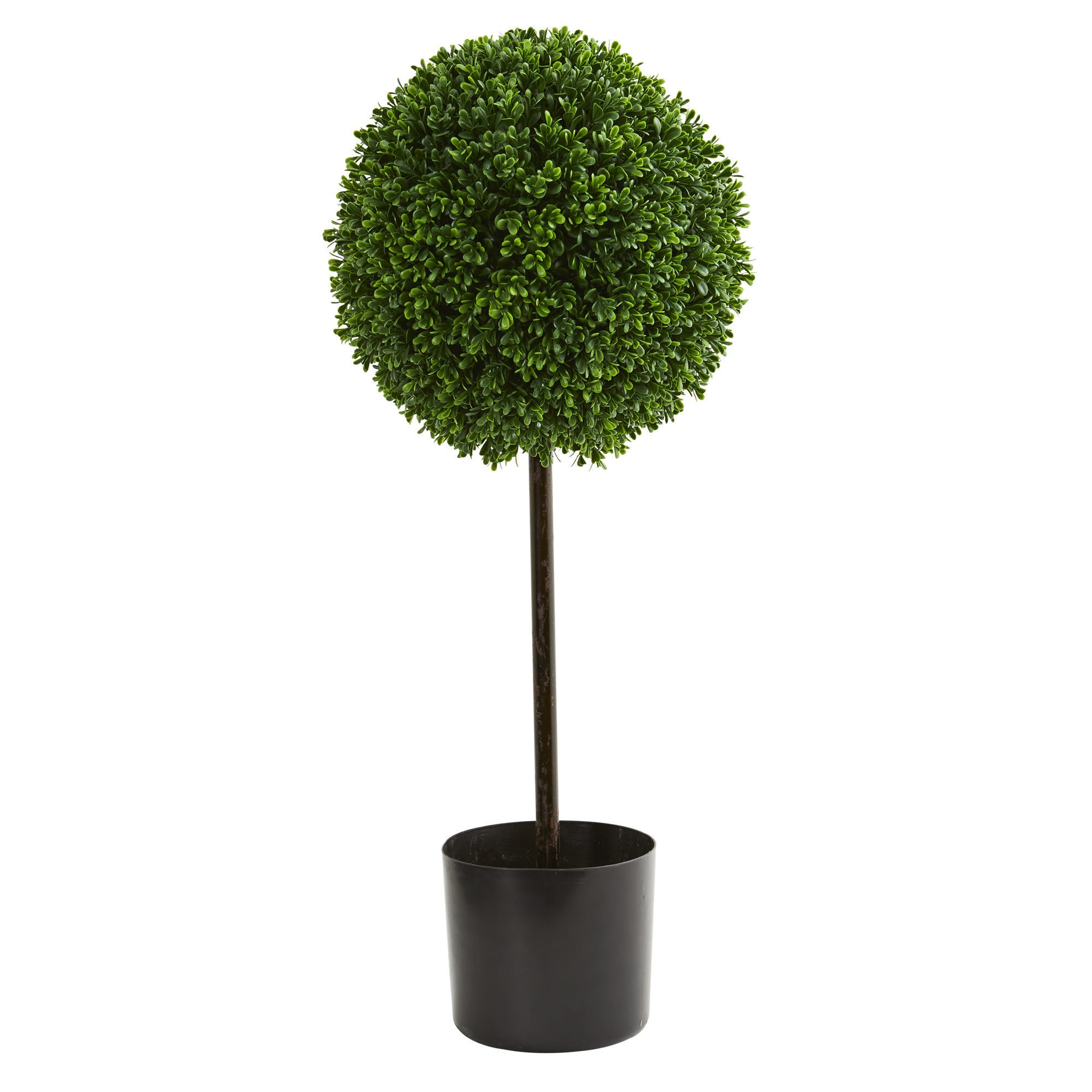 2.5 Boxwood Ball Artificial Topiary Tree UV Resistant (Indoor/Outdoor) (Green)