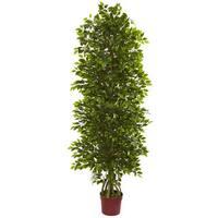 6' Four Tier Mini Ficus Artificial Tree UV Resistant (Indoor/Outdoor)