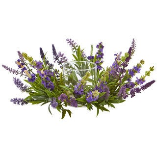 Lavender Artificial Arrangement Candelabrum