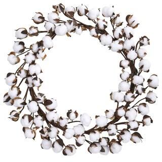 """20"""" Cotton Ball Wreath"""