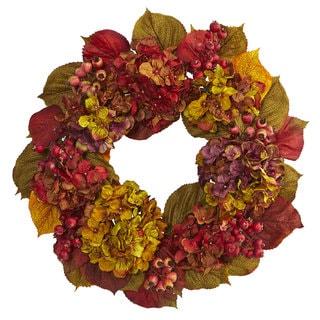 """24"""" Fall Hydrangea Wreath"""