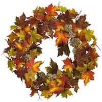 "24"" Maple Pine Cone Wreath"