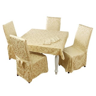 Belle Maison Genoa 9 Piece Dining Set (Table cloth, Napkins, and Chair covers)