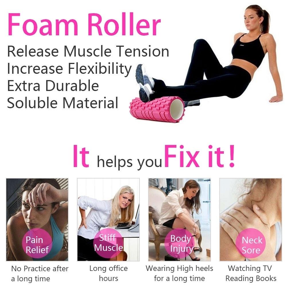 Triger Point Massage Foam Roller for Gym Physio Yoga Fitn...