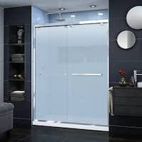 DreamLine Encore 56-60 in. W x 76 in. H Semi-Frameless Bypass Sliding Shower Door, Frosted Glass