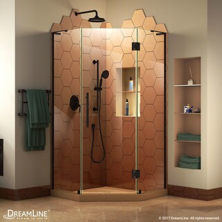 DreamLine Prism Plus 36 in. x 36 in. x 72 in. Frameless Hinged Shower Enclosure