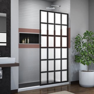 DreamLine Linea Rhone 34 in. W x 72 in. H Single Panel Frameless Shower Screen, Open Entry Design