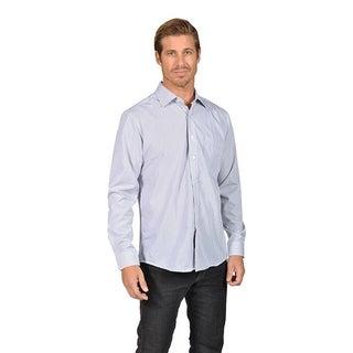 Mens Button Down Shirts Baby Checkered Gray