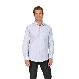 Mens Striped Button Down Shirts Gray