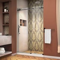DreamLine Enigma-XT 44-48 in. W x 76 in. H Fully Frameless Sliding Shower Door