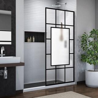 DreamLine Linea Avignon 34 in. W x 72 in. H Single Panel Frameless Shower Screen, Open Entry Design