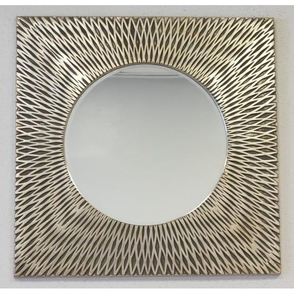 d295da982a09 Shop Square Bali Weave Accent Mirror - Bronze Gold - 30 3 4