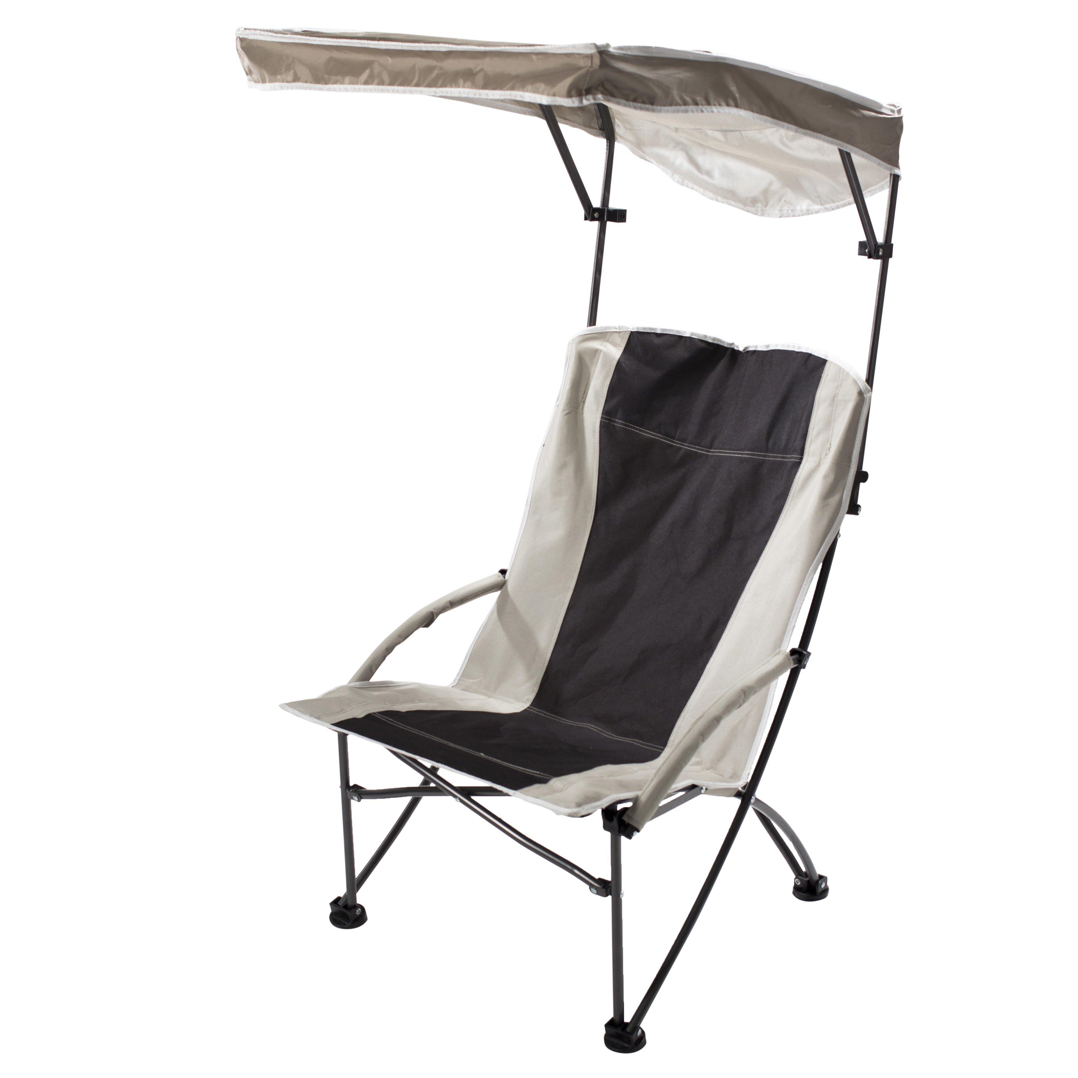 quik shade pro black tan comfort high folding camp chair