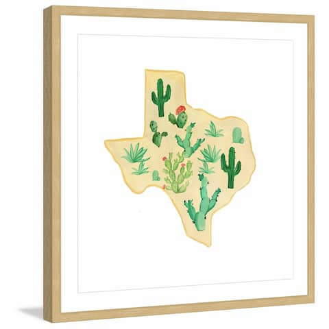 Marmont Hill - Handmade Texas Cactus Framed Print
