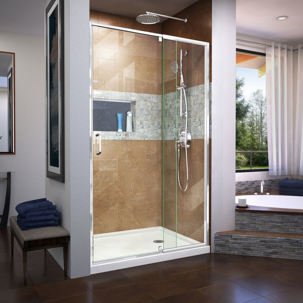 DreamLine Flex 38-42 in. W x 72 in. H Frameless Pivot Shower Door