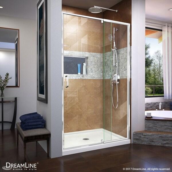 DreamLine Flex 38-42 in. W x 72 in. H Semi-Frameless Pivot Shower Door