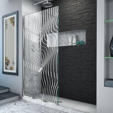 "DreamLine Platinum Linea Surf 34 in. W x 72 in. H Single Panel Shower Screen - 34"" W"