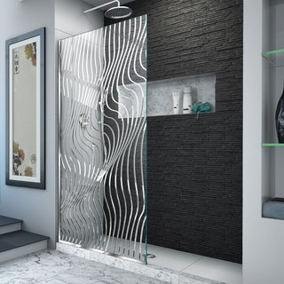 "DreamLine Platinum Linea Surf 34 in. W x 72 in. H Single Panel Shower Screen - 34"" W"