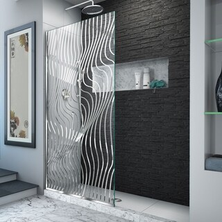 DreamLine Platinum Linea Surf 34 in. W x 72 in. H Single Panel Frameless Shower Screen, Open-Entry Design